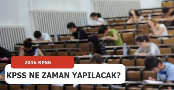 2016 KPSS Sınavı Ne Zaman?