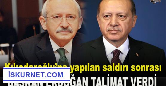 Cumhurbaşkanı  Erdoğan, Kılıçdaroğlu için talimat verdi.