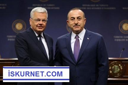Dışişleri Bakanı Çavşoğlu, Belçikalı Mevkidaşı Didier Reynders'le görüştü