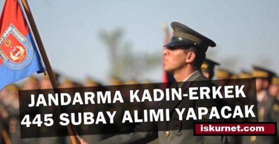 Jandarma Kadın ve Erkek 445 Subay Alımı İlanı Yayımladı