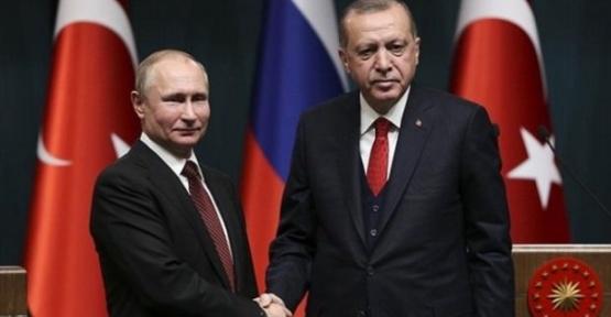 Cumhurbaşkanı Erdoğan ve Putin Görüştü