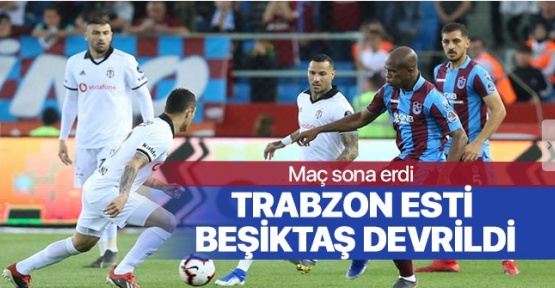 Fırtına Kartalı Biçti, Trabzonspor Beşiktaş'ı 2-1 ile Devirdi