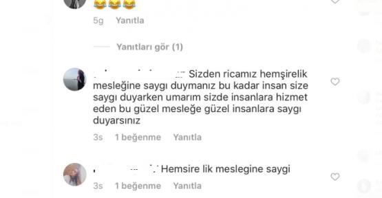 Murat Boz'un İnstagram Hesabına Hemşireler Öyle Bir Yorum Yaptı Ki !