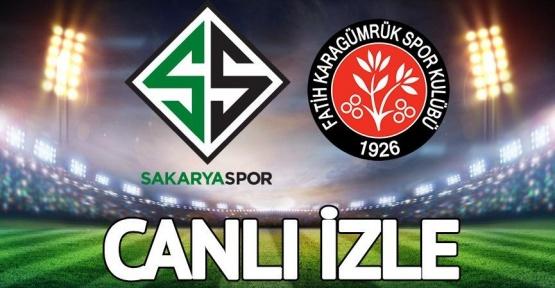 Sakaryaspor Fatih Karagümrük canlı izle! Canlı yayın: 2. Lig Play-Off Finali maçı