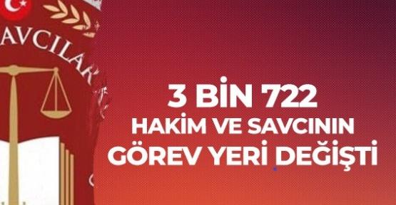 Sondakika HSK Kararnamesi ile 3 Bin 722 Hakim Savcı yeri değiştirildi
