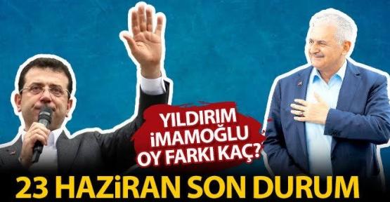 23 Haziran İstanbul Seçim Sonuçları Açıklandı mı