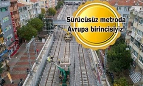 İstanbul raylı sistem inşasında Dünyada bir numara!