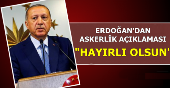 TBMM'de Erdoğan'dan Askerlik Yasası Açıklaması