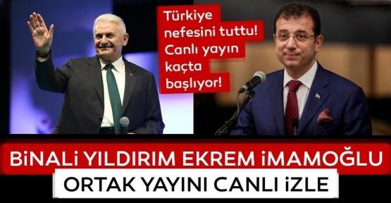 Türkiye Nefesini Tuttu Ekrem İmamoğlu, Binali Yıldırım Tartışması Canlı İzle
