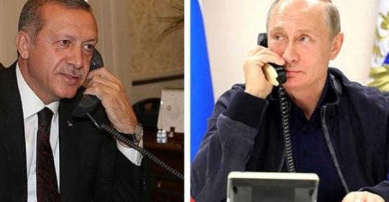 Cumhurbaşkanı Putin ile telefon görüşmesi yaptı