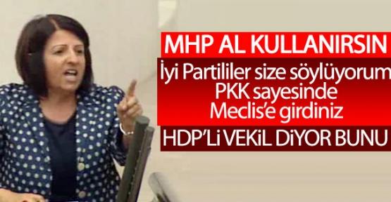 Mecliste Terörist İstemiyoruz. İYİ Parti'nin Cani Sözü HDP'lilere Dokunmuş.
