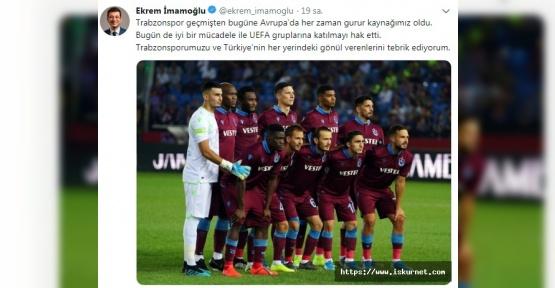 Ekrem İmamoğlu'ndan Trabzonspor Paylaşımı
