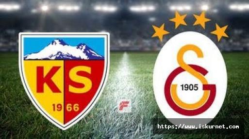 Kayserispor Galatasaray maçında eşitlik 1-1