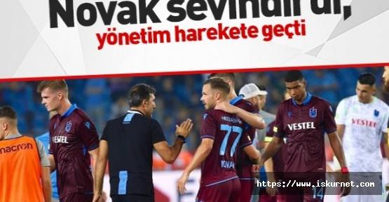 Trabzonspor'da Novak Sevindirdi