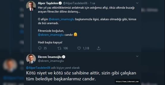 Ekrem İmamoğlu Twitter'dan isyan etti.