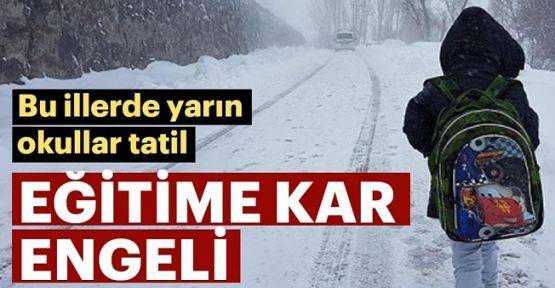 7 Ocak Okulların  Tatil  Olduğu İller, İstanbul'da   okullar tatil mi