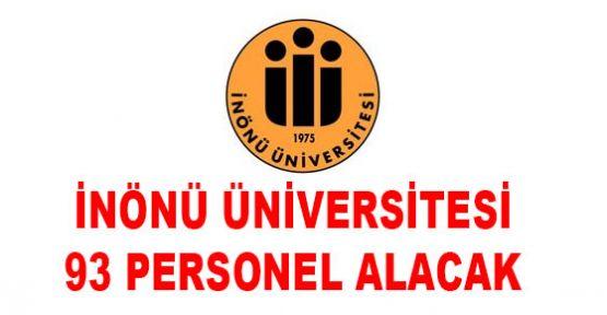 İnönü Üniversitesi 93 personel alım ilanı