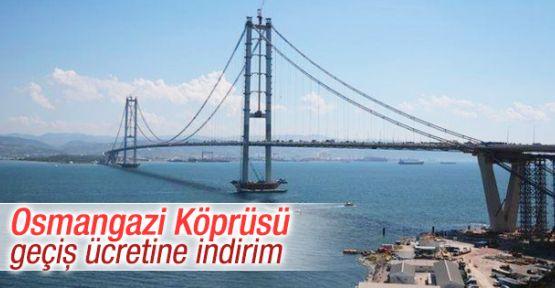 Osmangazi Köprüsüne İndirim