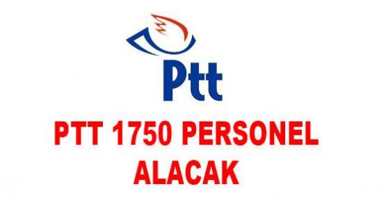 PTT 1750 Personel Alım İlanı