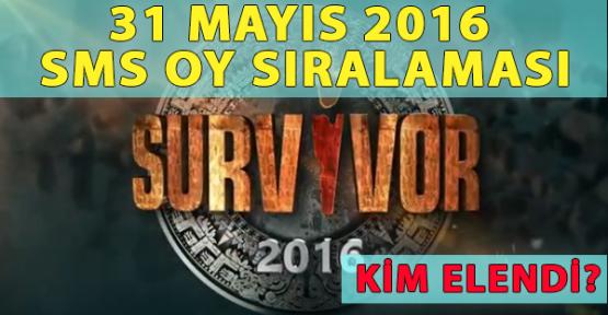 Survivor'da Kim Elendi? 31 Mayıs Salı Halk SMS Oy Sıralaması