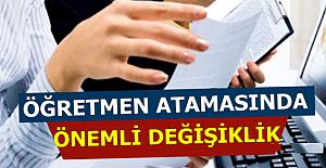Sözleşmeli Öğretmen Atamalarında...