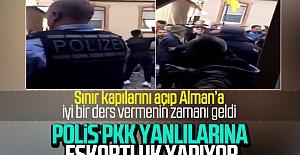 Alman Polisi PKK yandaşlarını korudu