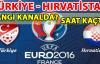Türkiye-Hırvatistan maçı ne zaman, hangi kanalda, saat kaçta? EURO 2016