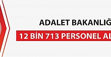 Adalet Bakanlığı 12 bin 713 Personel Alacak