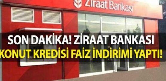 Ziraat Bankası Konut Kredilerinde Faizleri İndirdi