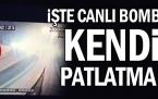 Beşiktaş'da canlı bombanın kendini patlatma anı